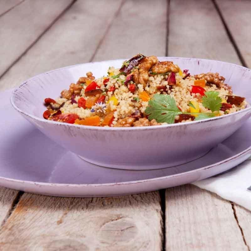 Fruchtiger Sommer Couscous Salat