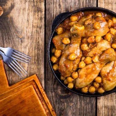Kichererbsen Curry mit Hähnchen